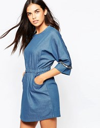 Goldie Cast Away Denim Dress Blue