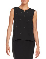 Nipon Boutique Embellished Tank Black