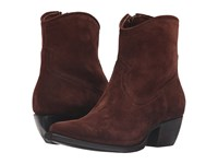 Frye Sacha Short Brown Oiled Suede Cowboy Boots