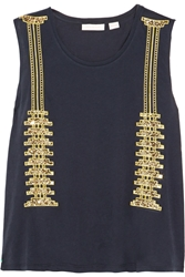Sass And Bide On My Terms Embellished Cotton Jersey Top