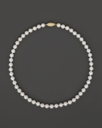 Bloomingdale's Cultured Pearl Strand Necklace 7.5 8 Mm No Color
