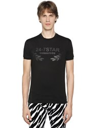 Dsquared Logo Printed Cotton Jersey T Shirt
