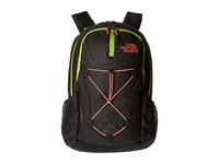 The North Face Women's Jester Tnf Black Emboss Calypso Coral Backpack Bags