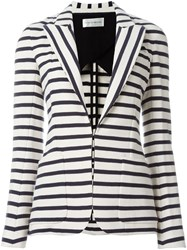 Faith Connexion Striped Blazer Nude And Neutrals