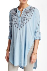 Biya Embroidered Tunic Blue