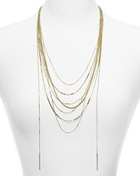 Aqua Darcy Mixed Chain Layered Necklace 22 Gold