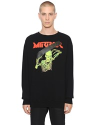 Off White Skull Mirror Cotton Sweatshirt