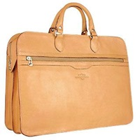 Robe Di Firenze Women's Sand Double Gusset Soft Leather Briefcase