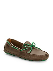 Cole Haan Grand Canoe Camp Leather Moccasins Brown