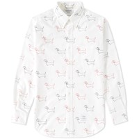 Thom Browne Embroidered Hector Oxford Shirt White
