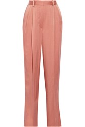 Lanvin Satin Wide Leg Pants Antique Rose