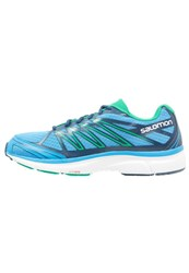 Salomon Xtour 2 Cushioned Running Shoes Process Blue Midnight Blue Real Green