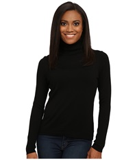Pendleton Petite Classic Turtleneck Sweater Black Women's Long Sleeve Pullover