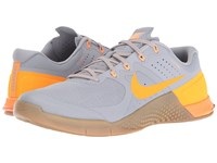Nike Metcon 2 Wolf Grey Bright Citrus Medium Brown Men's Cross Training Shoes Gray