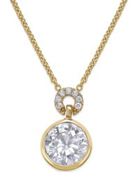 Kate Spade New York Round Crystal Pendant Necklace Clear