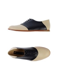 Opening Ceremony Lace Up Shoes Beige