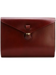 Tarnsjo Garveri Envelope Buckle Portfolio Red