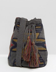 Hat Attack Knit Slouchy Bag Charcoal Grey