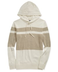 American Rag Men's Hooded Mesh Sweater Only At Macy's Oat Heather