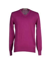 Williams Wilson Knitwear Jumpers Men Mauve