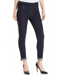 Style And Co. Petite Cuffed Skinny Jeggings Rinse Wash