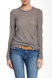 Inhabit Crew Neck Long Sleeve Tee Brown