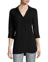 Splendid V Neck Tunic Black