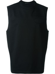 Alexander Wang Raw Edge Patch Muscle Tank Top Black