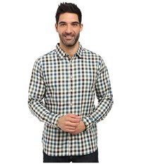 The North Face Long Sleeve Hayden Pass Shirt Prussian Blue Plaid Men's Clothing