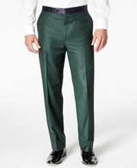 Sean John Men's Green Classic Fit Tuxedo Pants