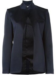 T By Alexander Wang Open Front Blazer Blue