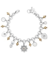 Lucky Brand Two Tone Charm Bracelet Silver Gold