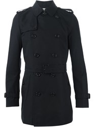 Burberry London 'Kensington' Trench Coat Black
