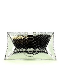 Vbh Manila Python Clutch Bag Female Silver