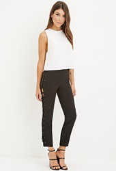 Forever 21 Lace Up Pants Black
