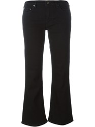 Victoria Victoria Beckham Cropped Flared Jeans Black