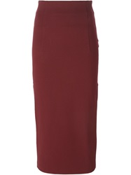 Antonio Marras High Waist Pencil Skirt Red