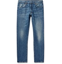 Levi's 1966 501 Slim Fit Denim Jeans Mid Denim