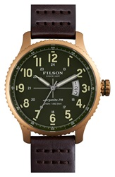Filson 'The Mackinaw Field' Watch 43Mm Brown Green Gold