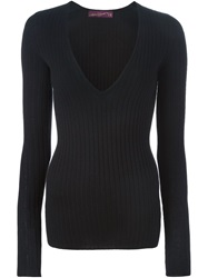 Antonia Zander V Neck Sweater Black