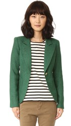 Smythe Patch Pocket Duchess Blazer Kelly Green Rust