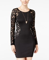 Amy Byer Bcx Juniors' Lace Bodycon Dress Black