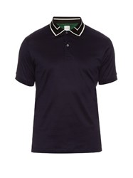 Paul Smith Contrast Collar Short Sleeved Polo Navy