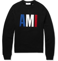 Ami Loopback Cotton Sweatshirt Mr Porter
