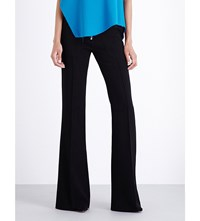 Marques Almeida Bootcut Wool Crepe Trousers Black
