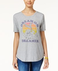 Hybrid Disney Juniors' Ariel Dream On Graphic T Shirt Heather Grey