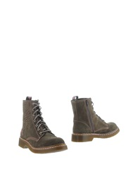 Desigual Ankle Boots Steel Grey
