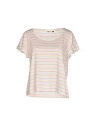 Only Topwear T Shirts Women Ivory