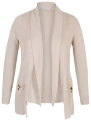 Chesca Fancy Ribbed Cardigan Beige