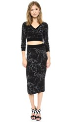 Black Halo Marrett Two Piece Dress Print Black